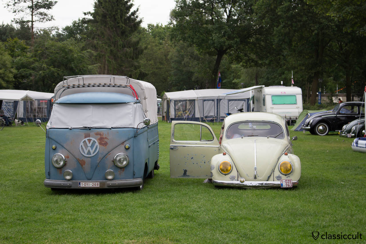 VW Oval with yellow headlights