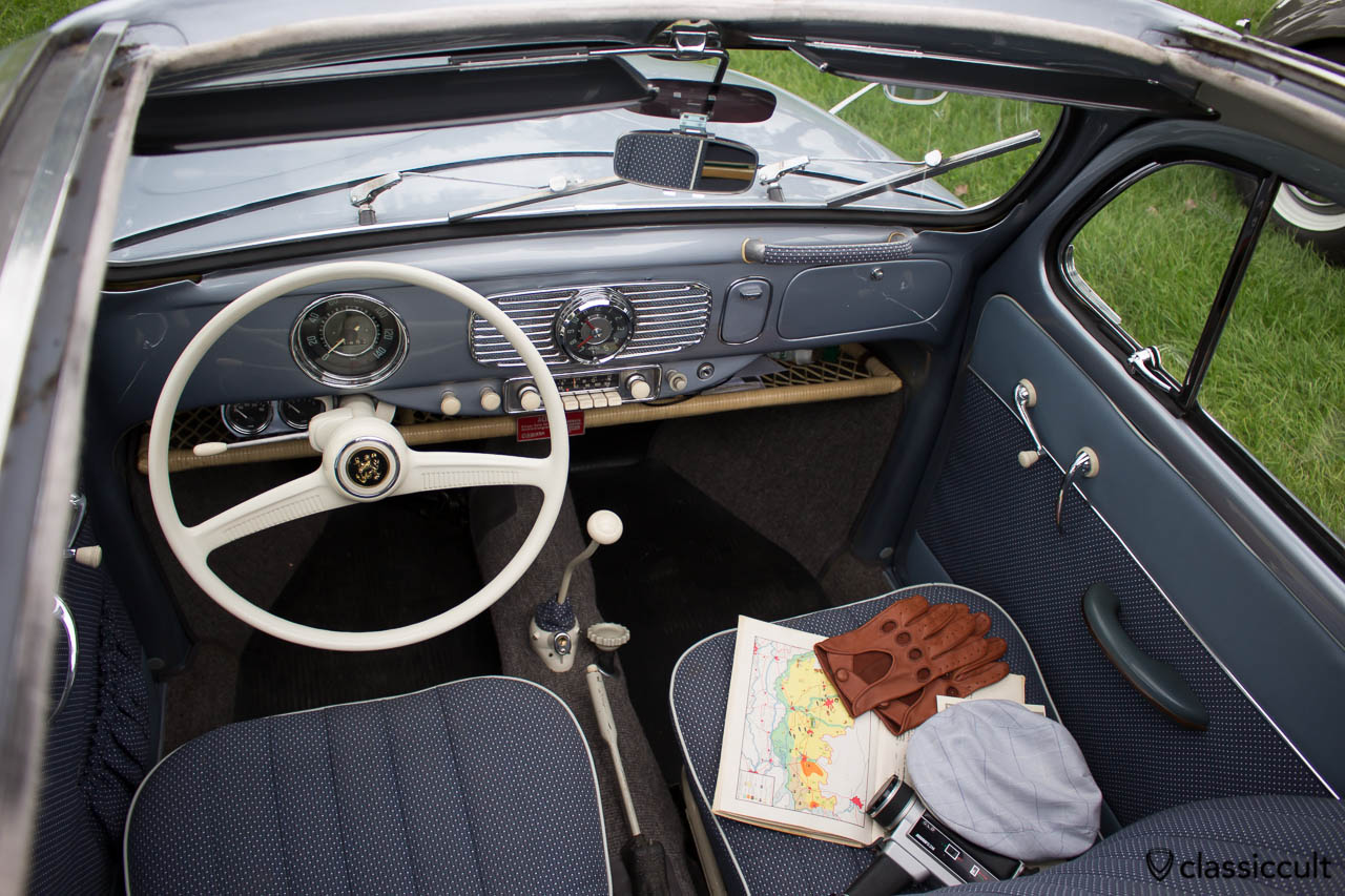 Oval Ragtop dash, steering wheel with dkw horn button