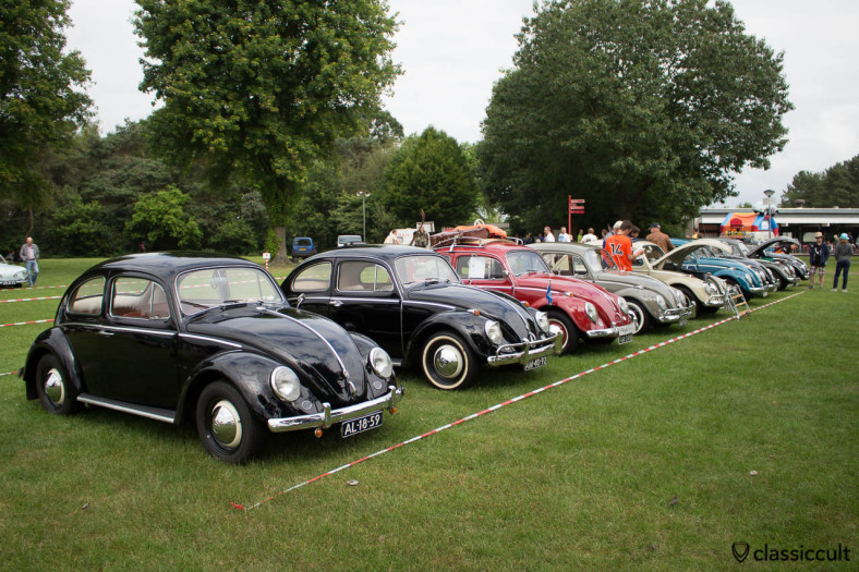 VW Beetles at IKW Wanroij Vintage Show 2014