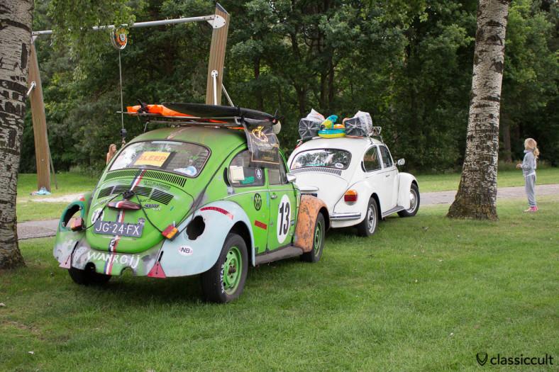 Towing VWs, groenekever