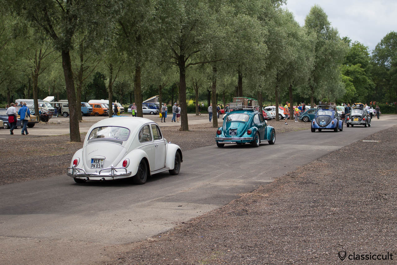 IKW Wanroij 2014, VW Beetles cruising around