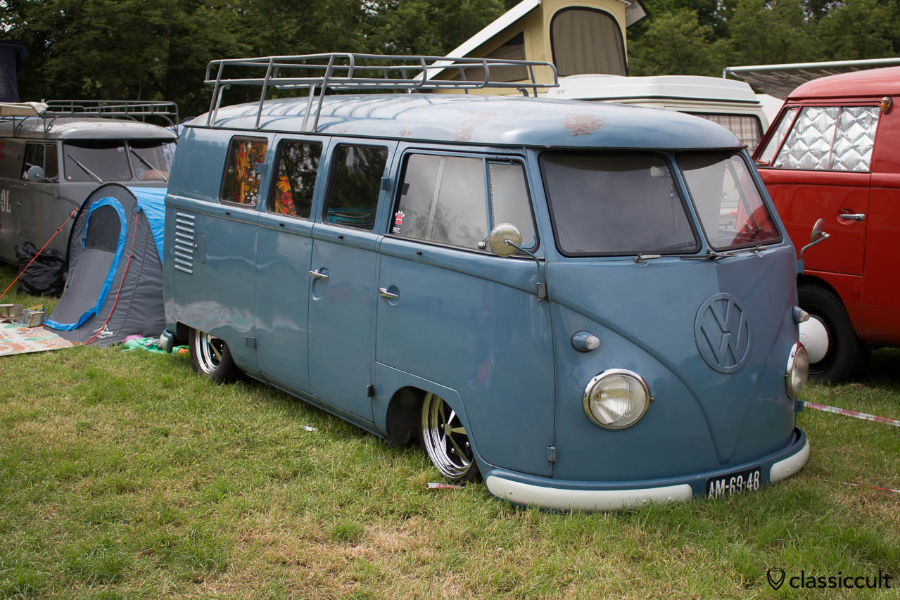 vw split bus, lowered