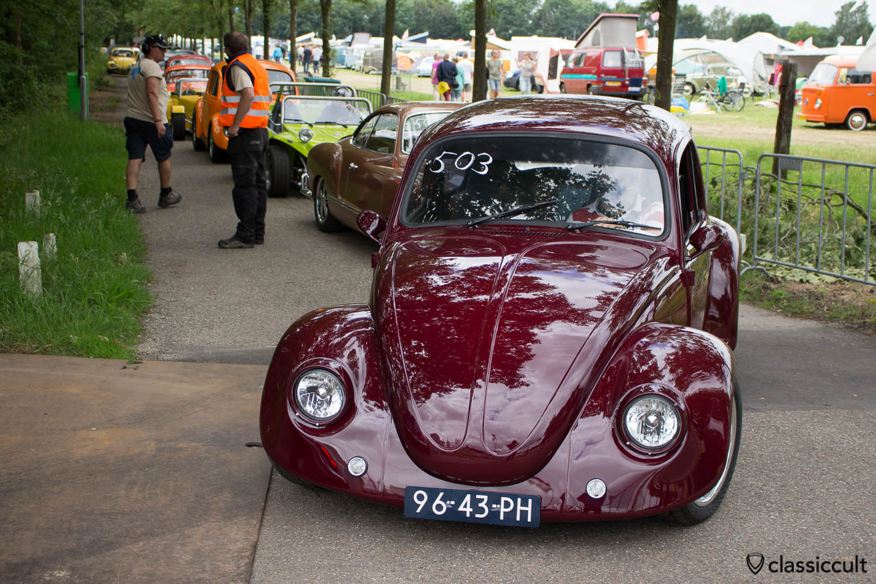 Classic Volkswagen waiting for Sprint at IKW Wanroij 2014
