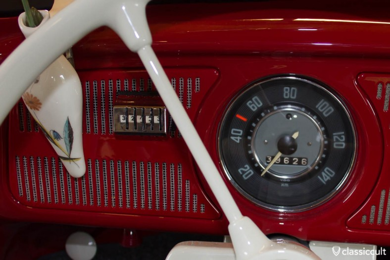 Chrome Kilometer Counter in my 1965 VW bug. The first owner put it in...