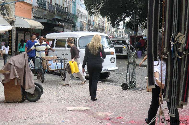 Kombi VW Bus, Historic Centro District, Rio de Janeiro, Brazil, May 23, 2013