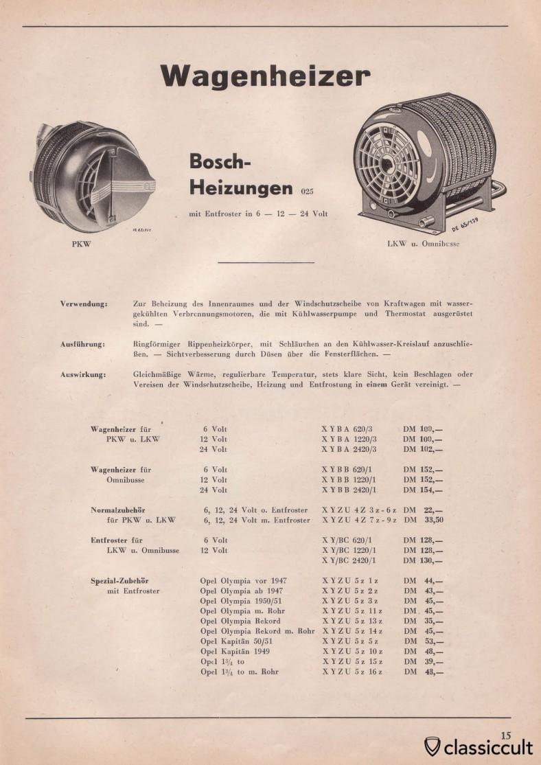 Bosch heaters
