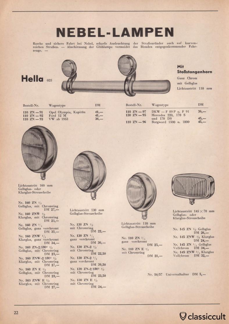 kraftfahrzeug zubeh r katalog 1954 1955 classiccult. Black Bedroom Furniture Sets. Home Design Ideas