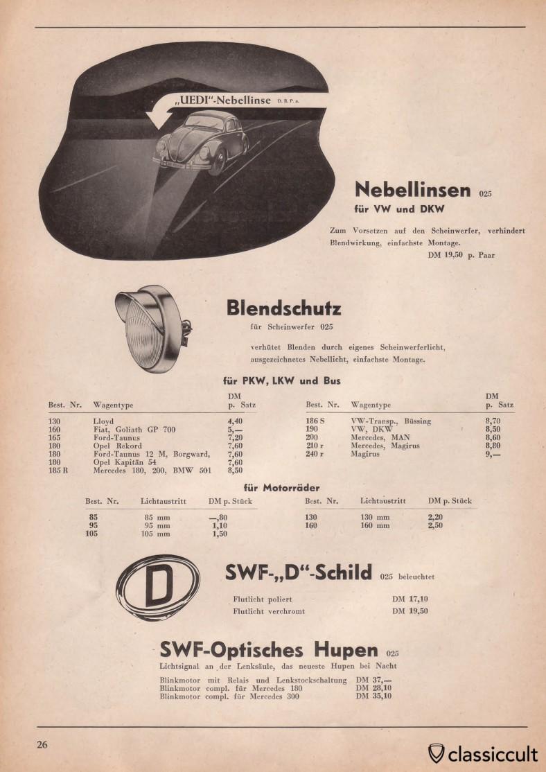 SWF D-Schild illuminated