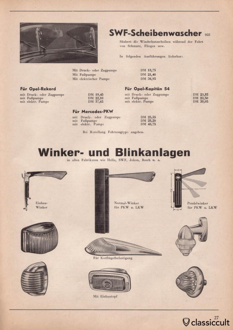 SWF, Jokon and Bosch semaphore winker
