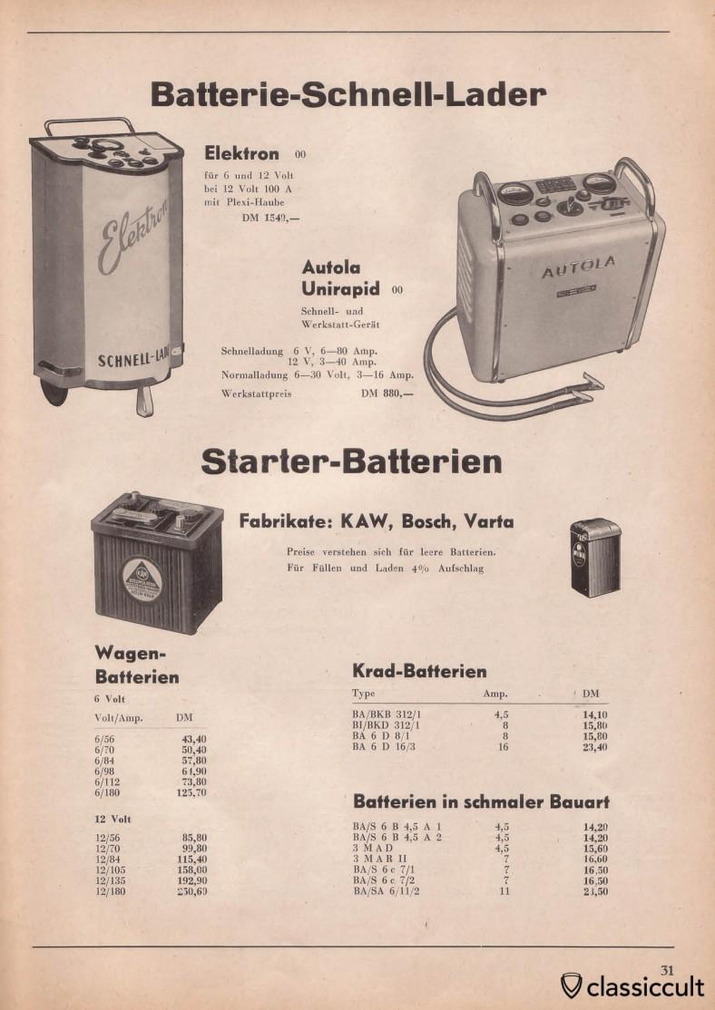 Varta, Bosch batteries