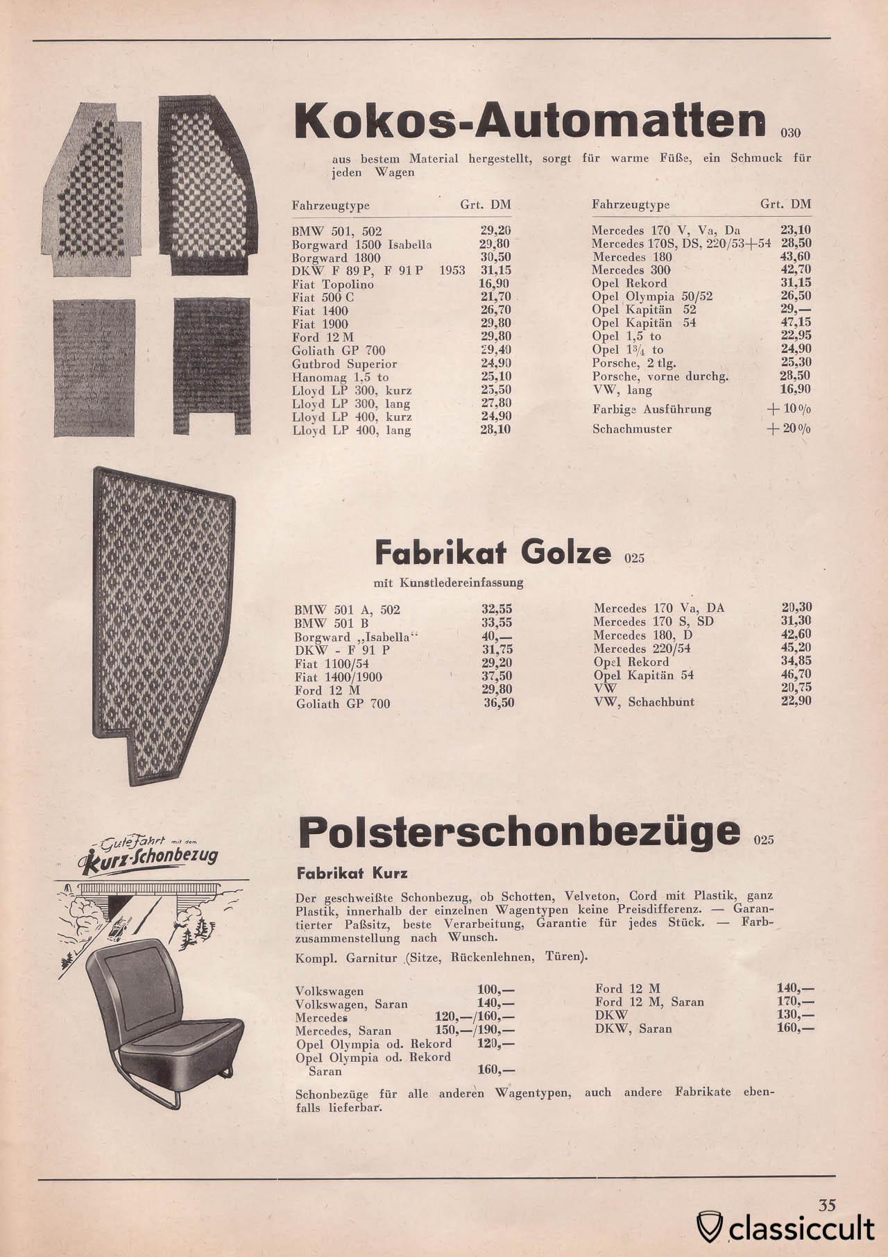 kraftfahrzeug zubehör katalog 1954 1955 classiccult tuning zubehor schmuck zubehor c 33 #10