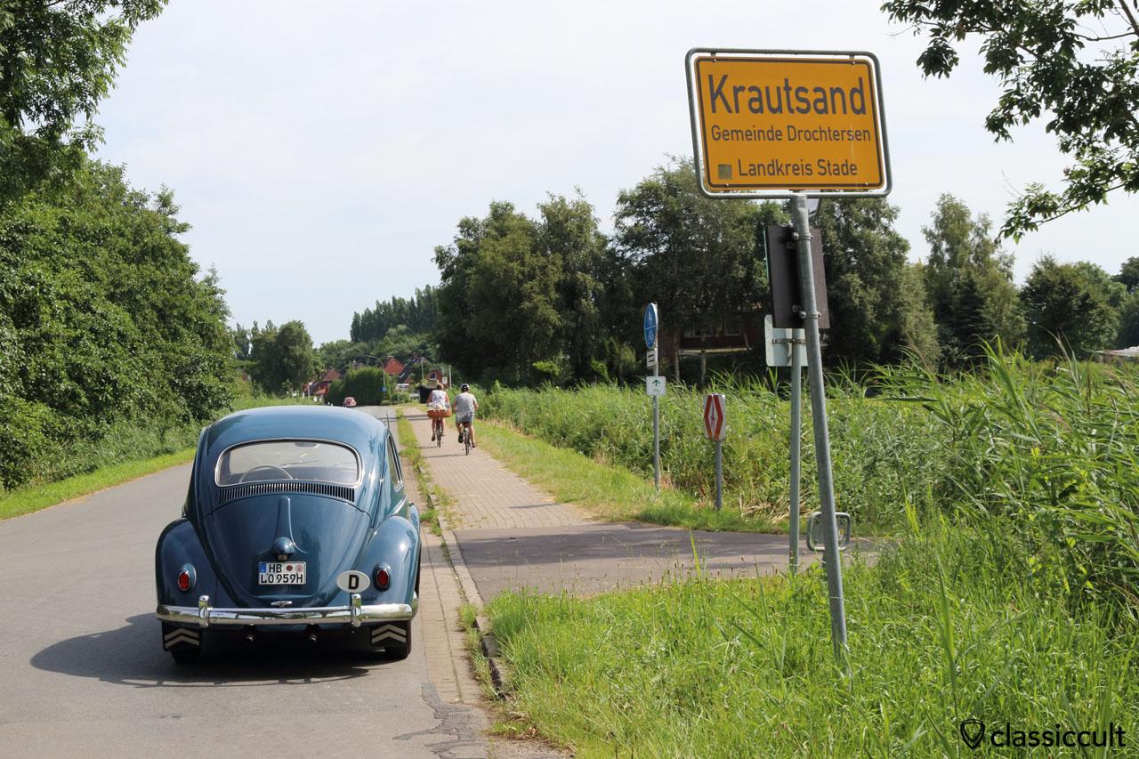 Mein 59er Käfer in Krautsand zum Küstendrive 2016