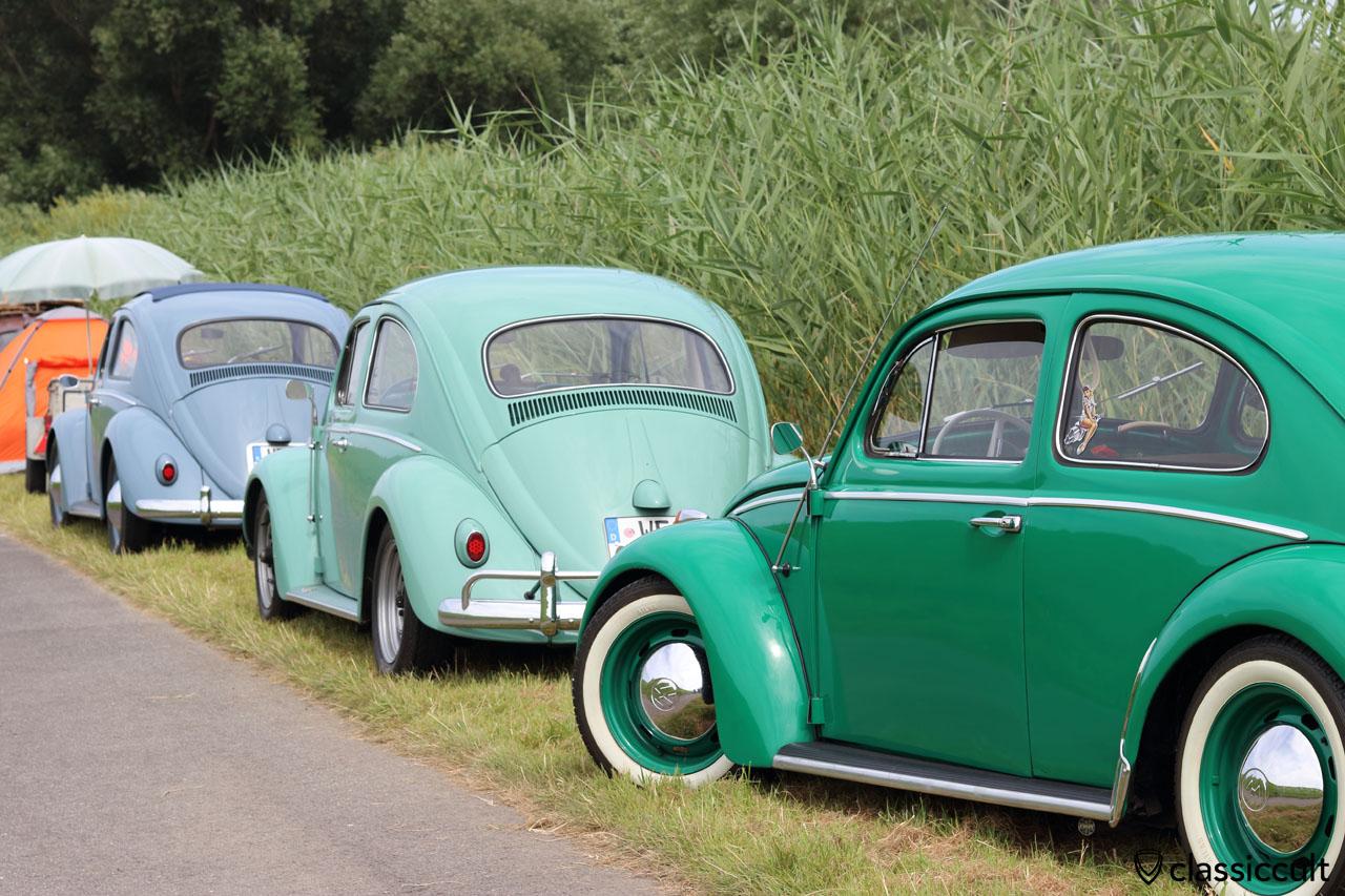 VW Käfer mit 15 Zoll ATLAS Weißwandringe