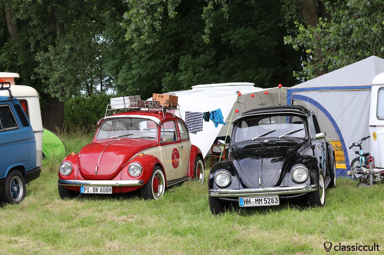 VW Käfer aus Pinneberg (PI) und Hamburg (HH) mit Sonnenschute