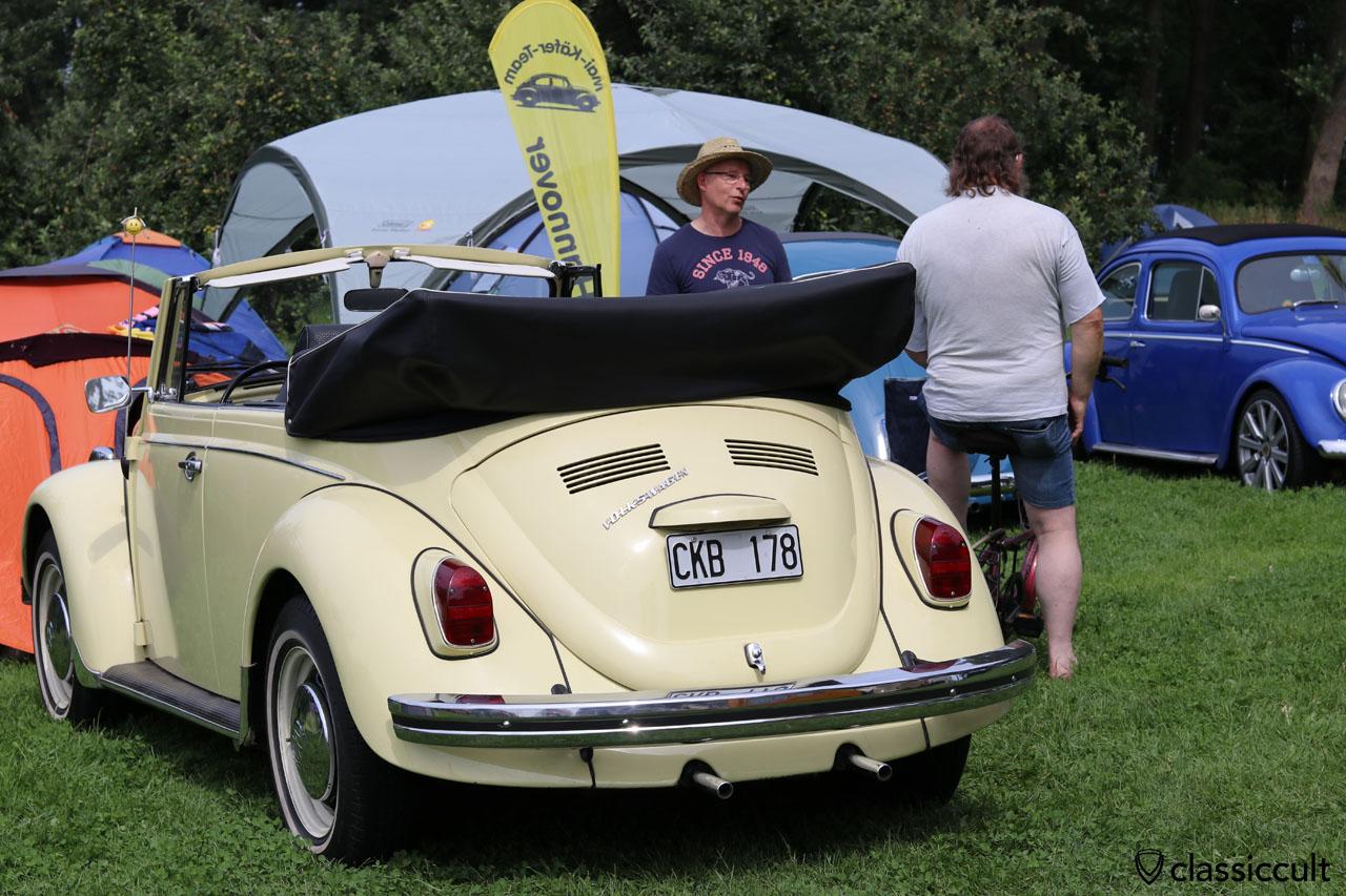 Alex 68er Käfer Cabrio, vor 22 Jahren aus USA importiert und restauriert, ein paar Jahre in Schweden und jetzt zurück in Norddeutschland. Welcome Back.