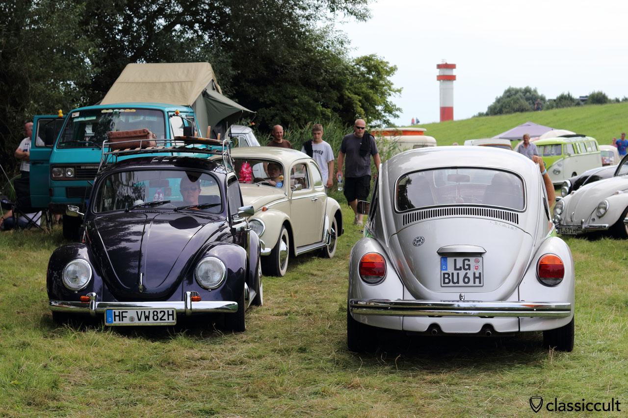 Küstendrive VW Treffen, Jubi Käfer und Leuchtturm