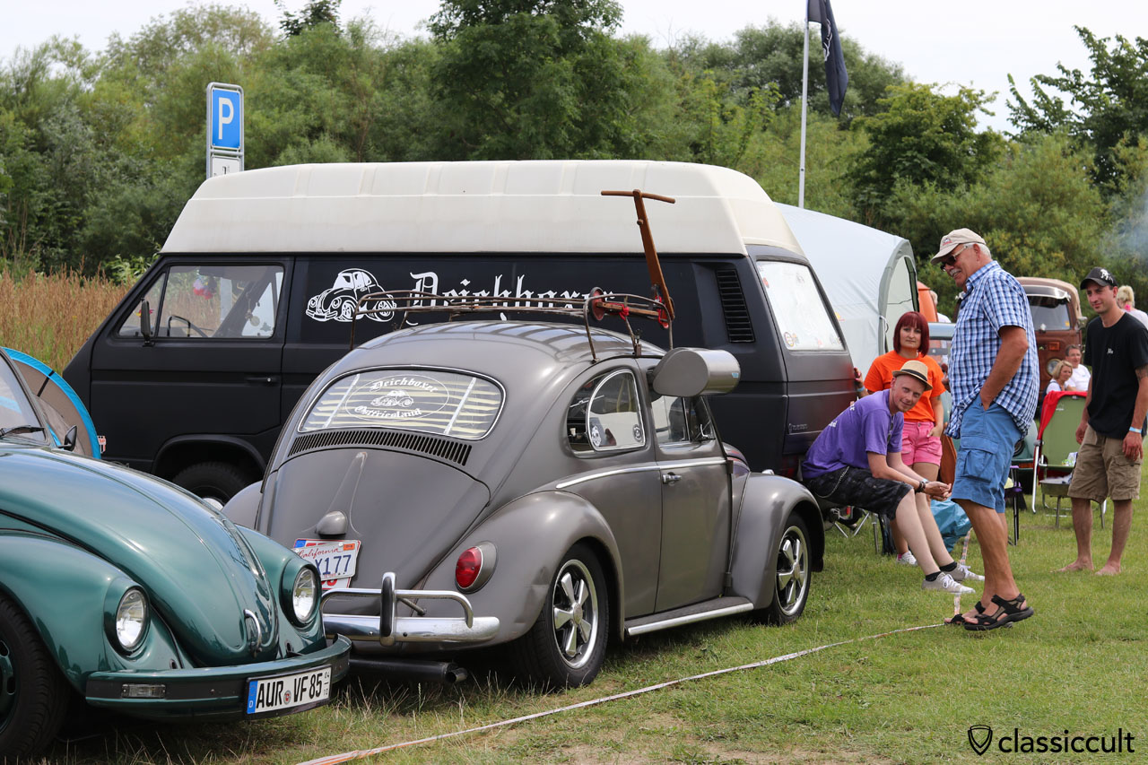 VW Käfer mit Swamp Cooler vom Deichboxer Ostfriesland Club