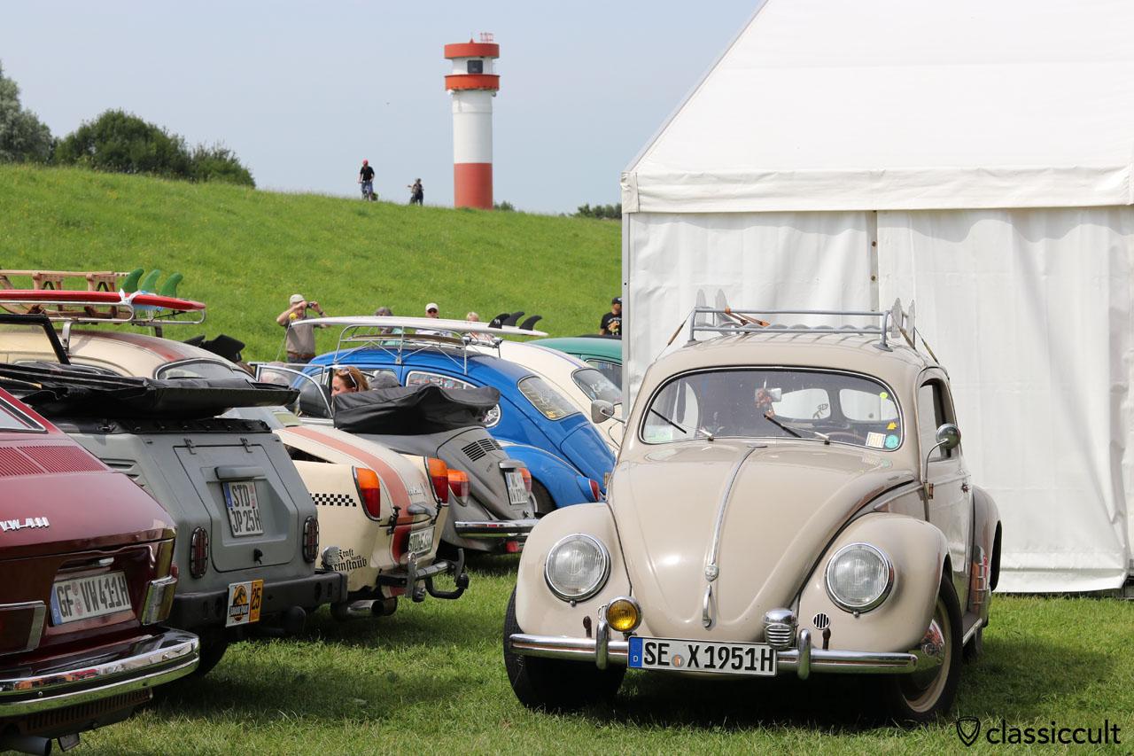 1951 Brezel Käfer und Leuchtturm, Küstendrive VW Meeting 2016