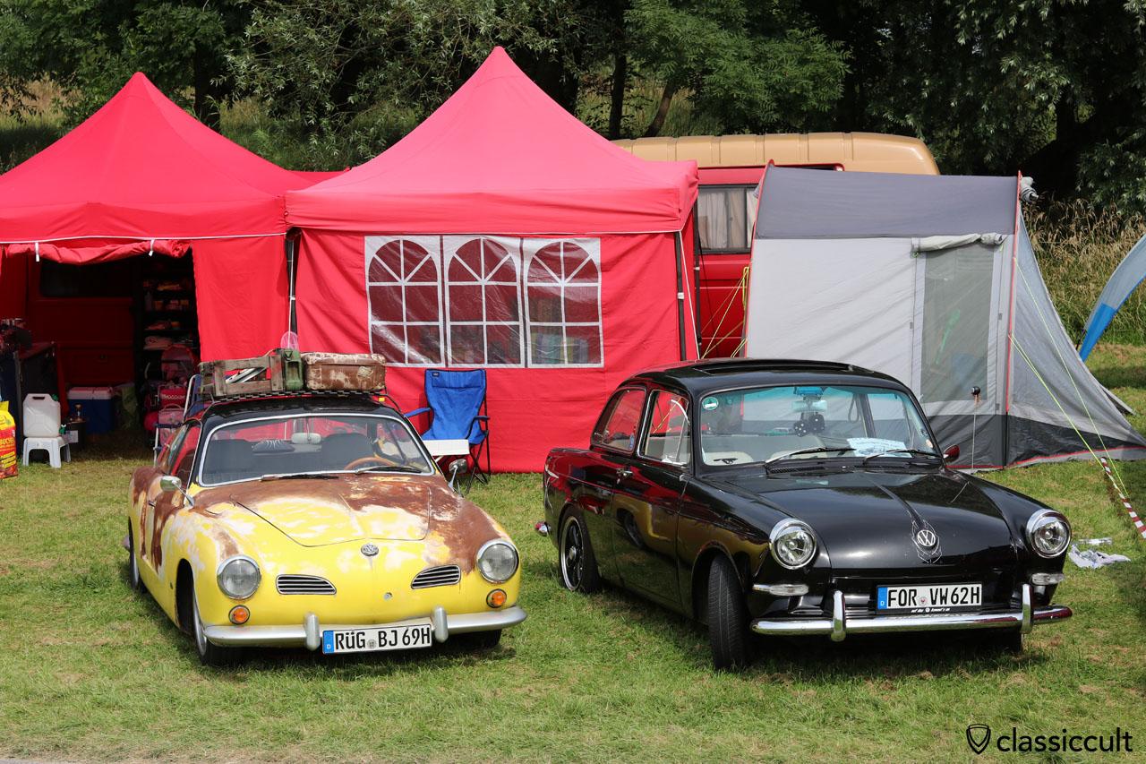 1969 Karmann Ghia, 1962 VW 1500 Typ 3 mit Schiebedach