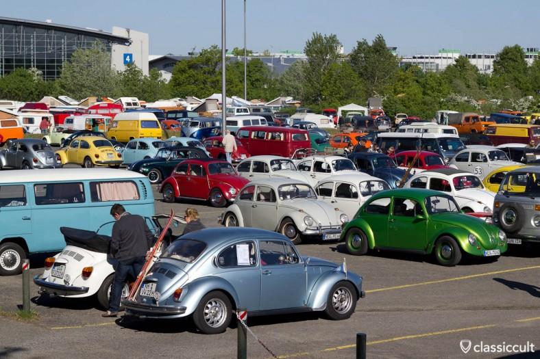 Maikäfertreffen 2011 Treffen Parkplatz