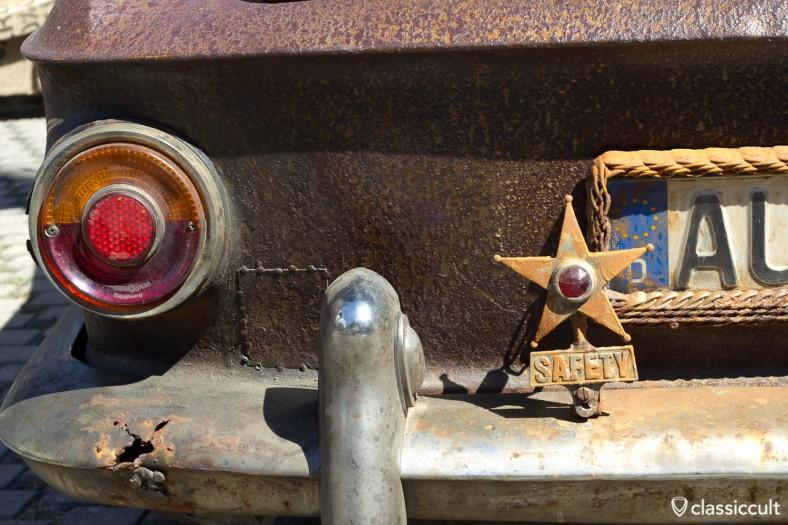 Karmann Ghia rostig mit SAFETY STAR
