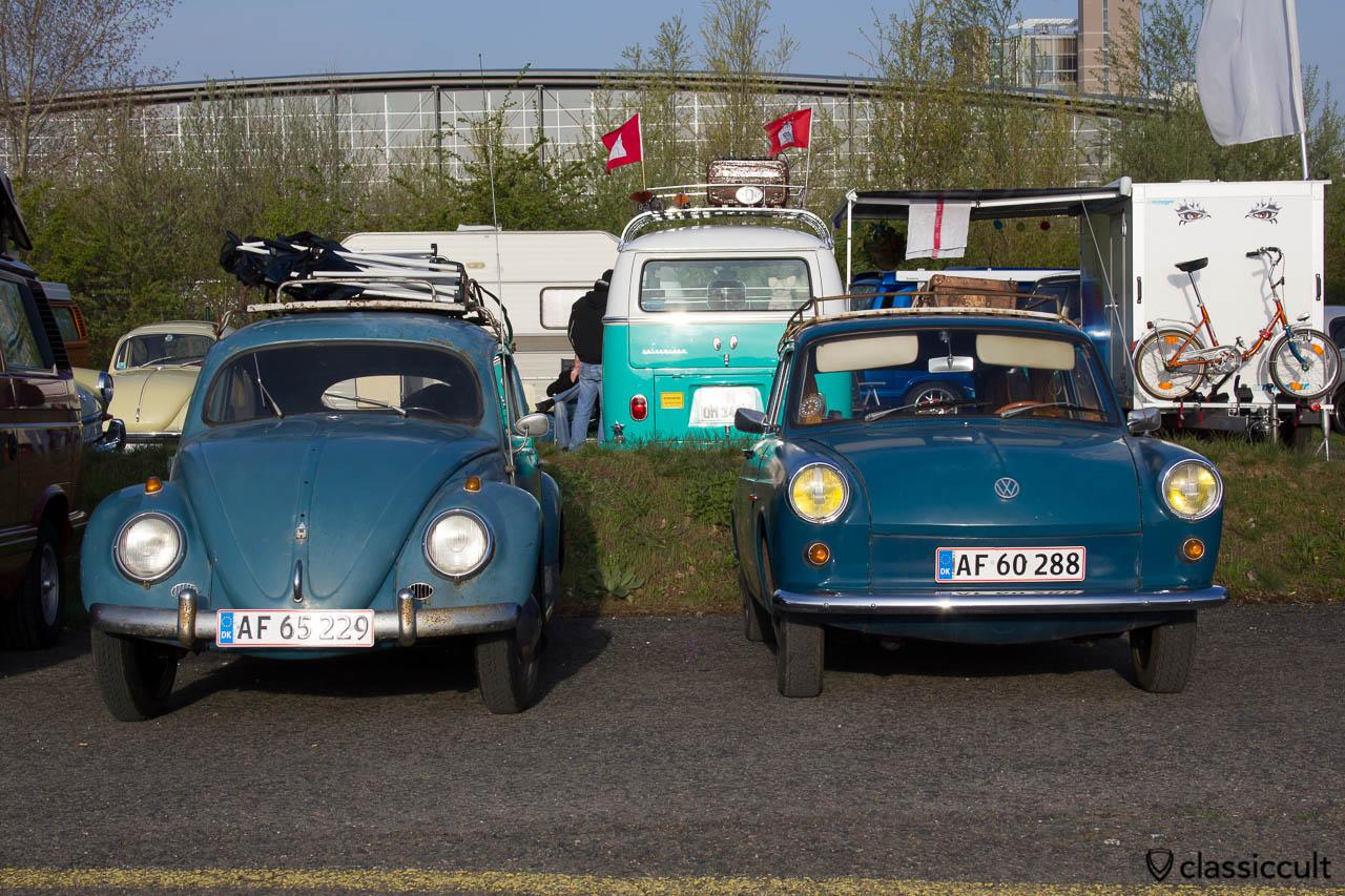 blauer VW Ovali und Typ 3 aus Dänemark MaiKäferTreffen 2013