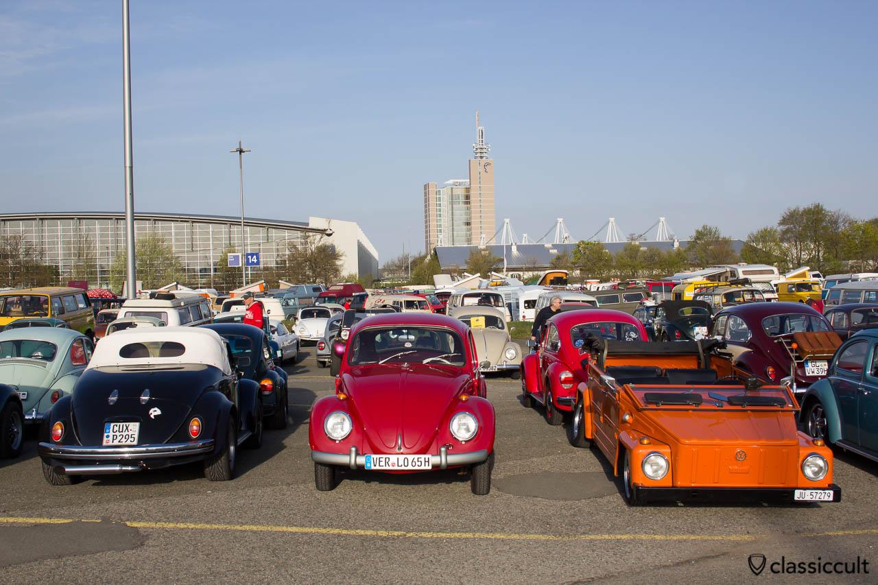 Mein rubin roter VW Standard Käfer.