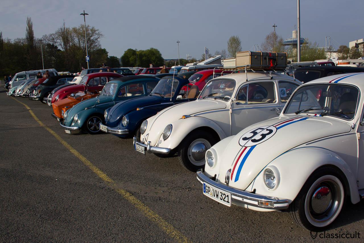 VW Käfer auf dem luftgekühlten Parkplatz Mai Käfer Treffen 2013
