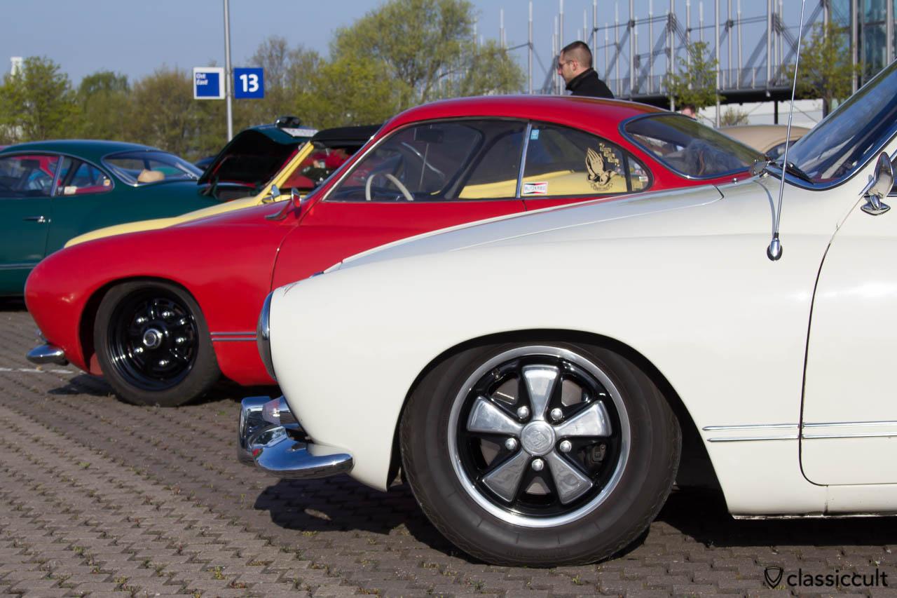 VW Karmann Ghia mit Fuchsfelgen