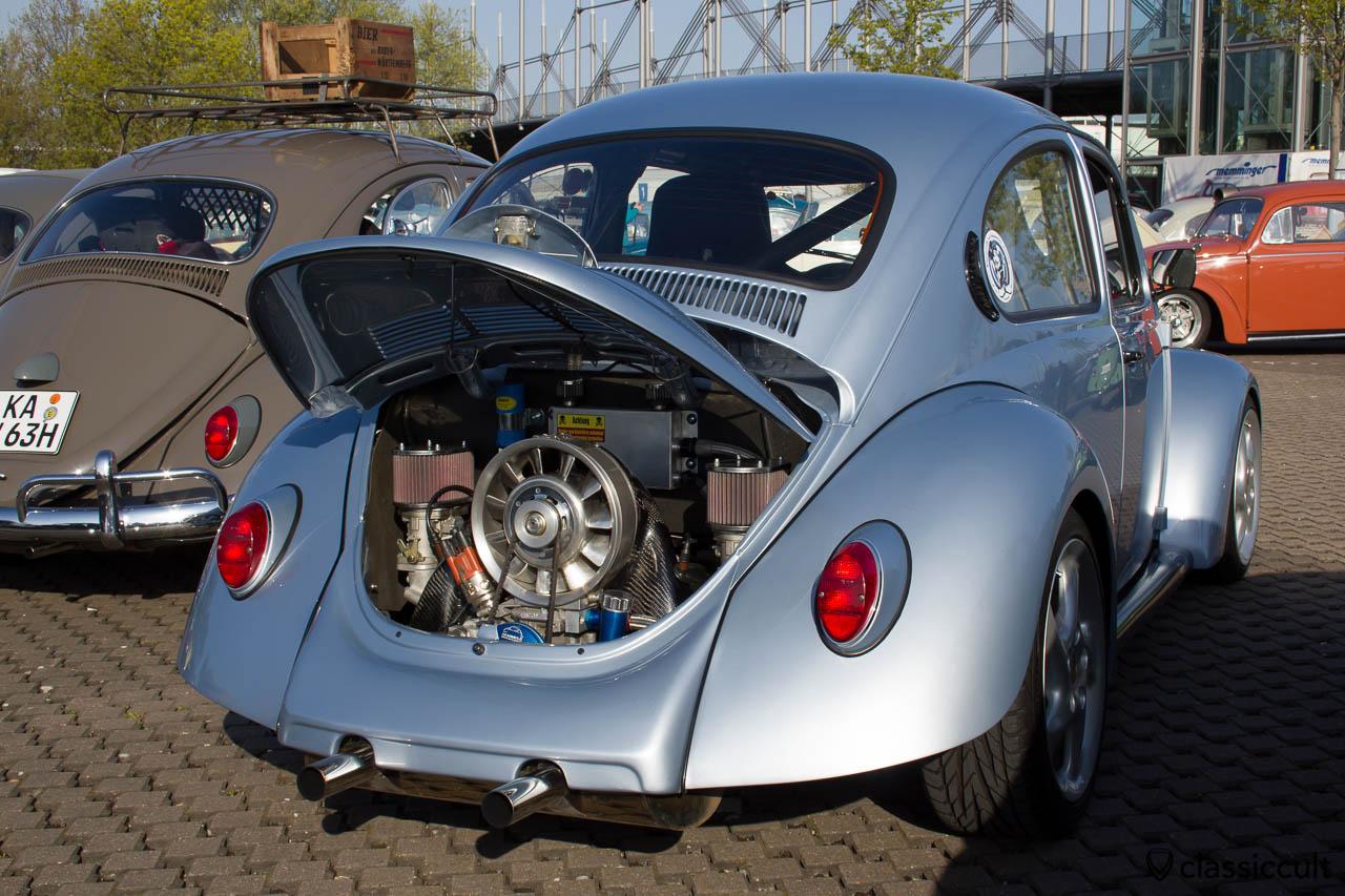 getunter VW Käfer mit Porschemotor und Porschefelgen