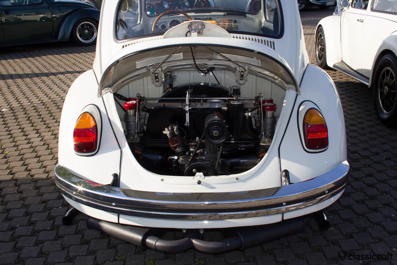 Cal Look Käfer getunter Motor im Bügeleisen Rückleuchten VW