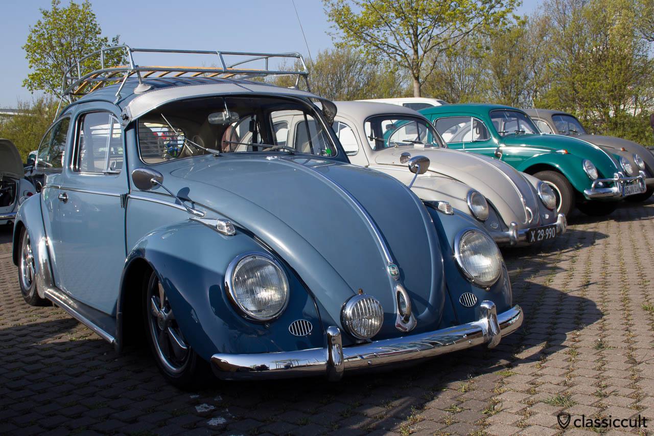 VW Käfer mit Zubehör Albert Spiegel und langen Hella Blinkern