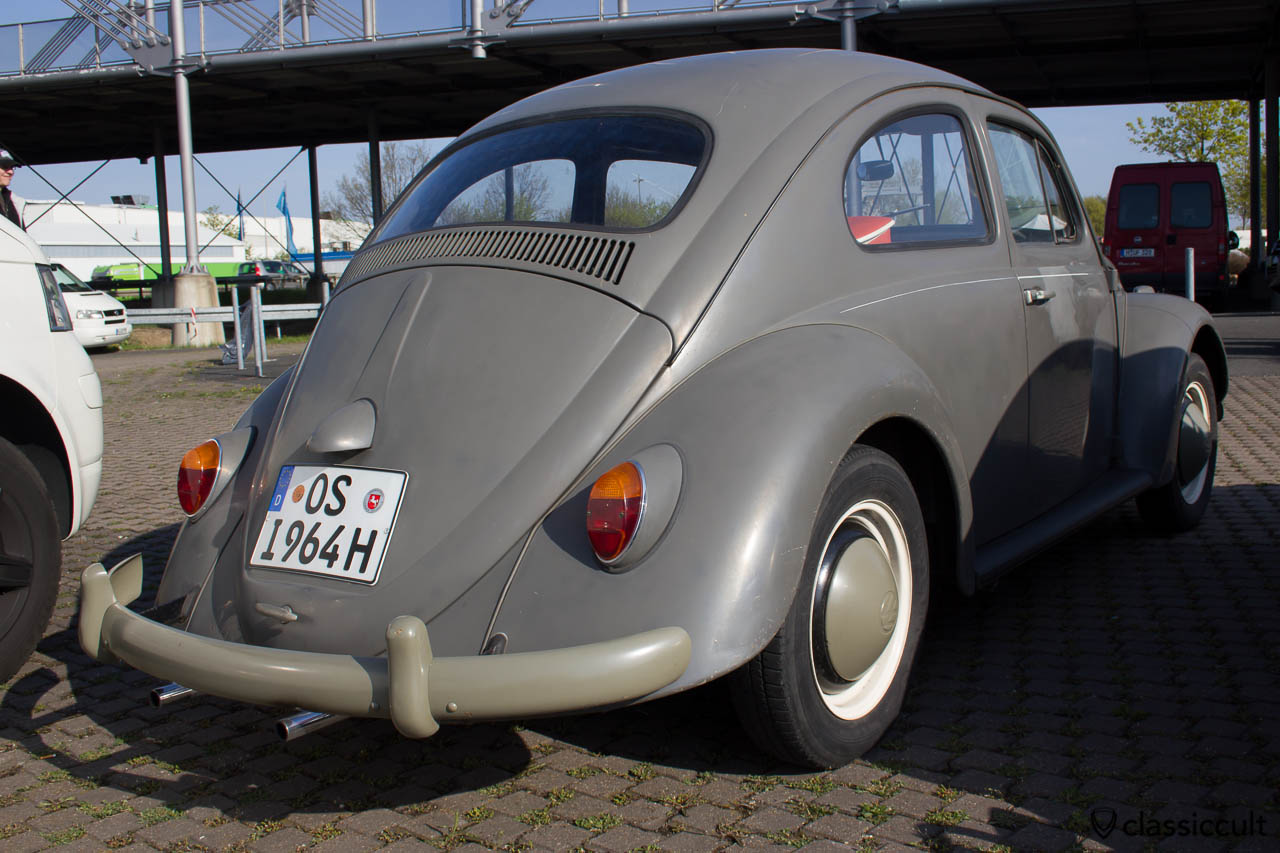 VW Käfer Standard Postkäfer 1964 von hinten
