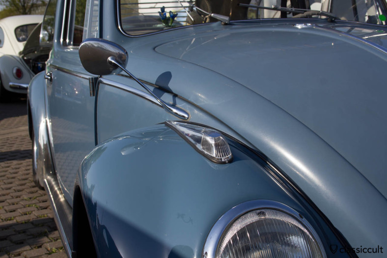 VW Bug with Albert Swan Neck Mirrors and Hella Long Indicator
