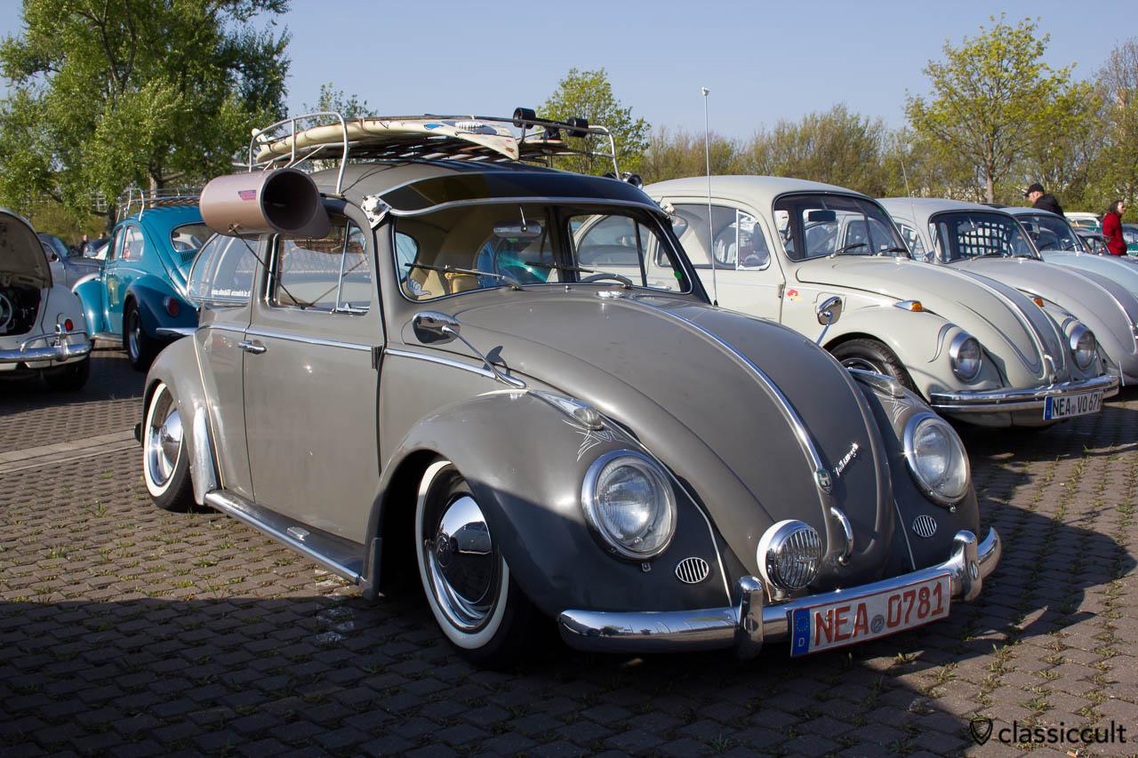 Zubehör VW Käfer mit Sonnenschute, Swamp Cooler und Albert Spiegel