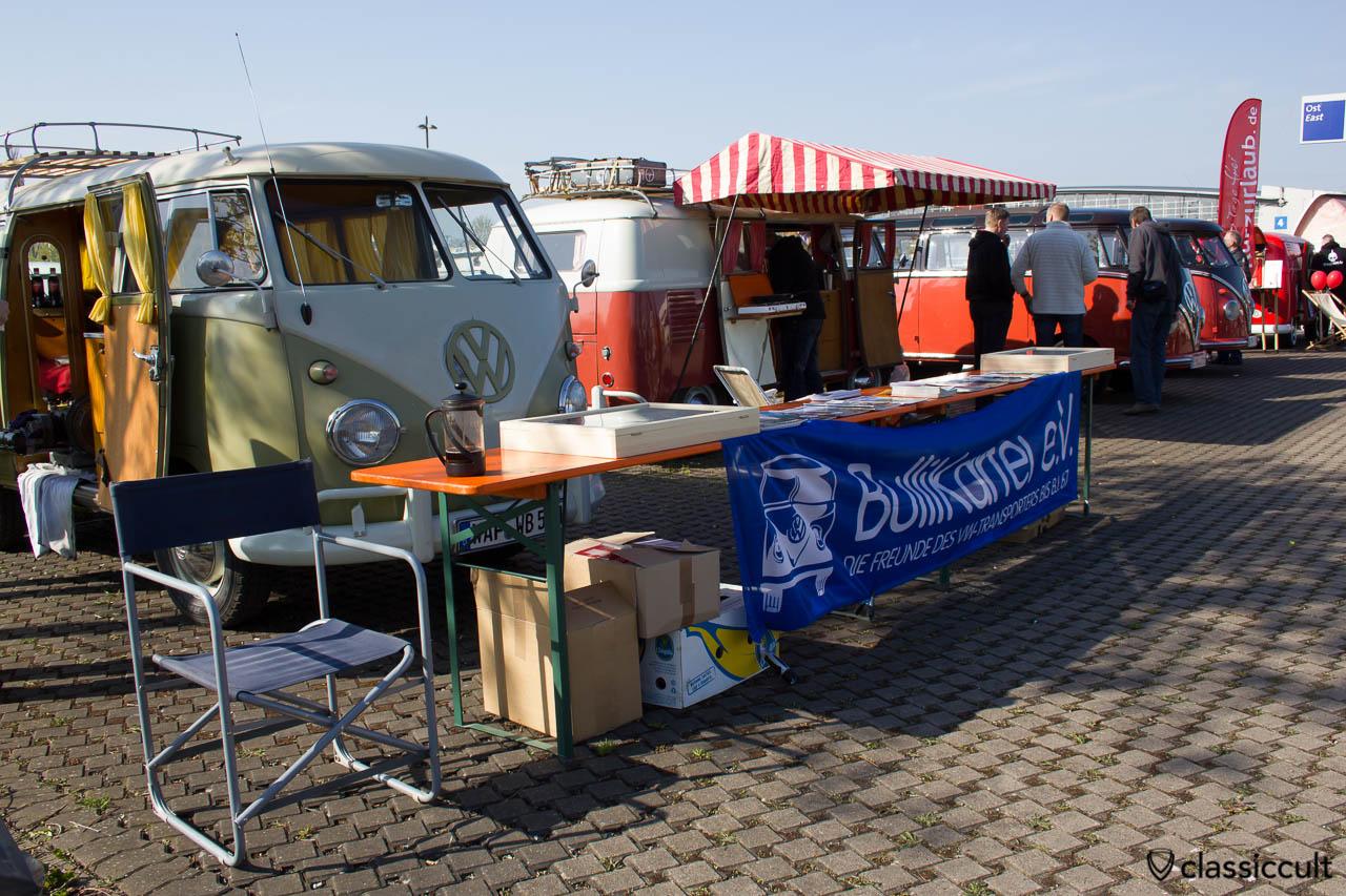 Bullikartei VW-Transporters Stand MaiKaeferTreffen 2013