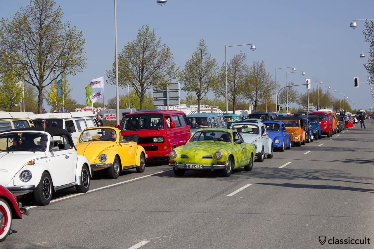Luftgekühlter VW Stau MaiKäfertreffen Hannover