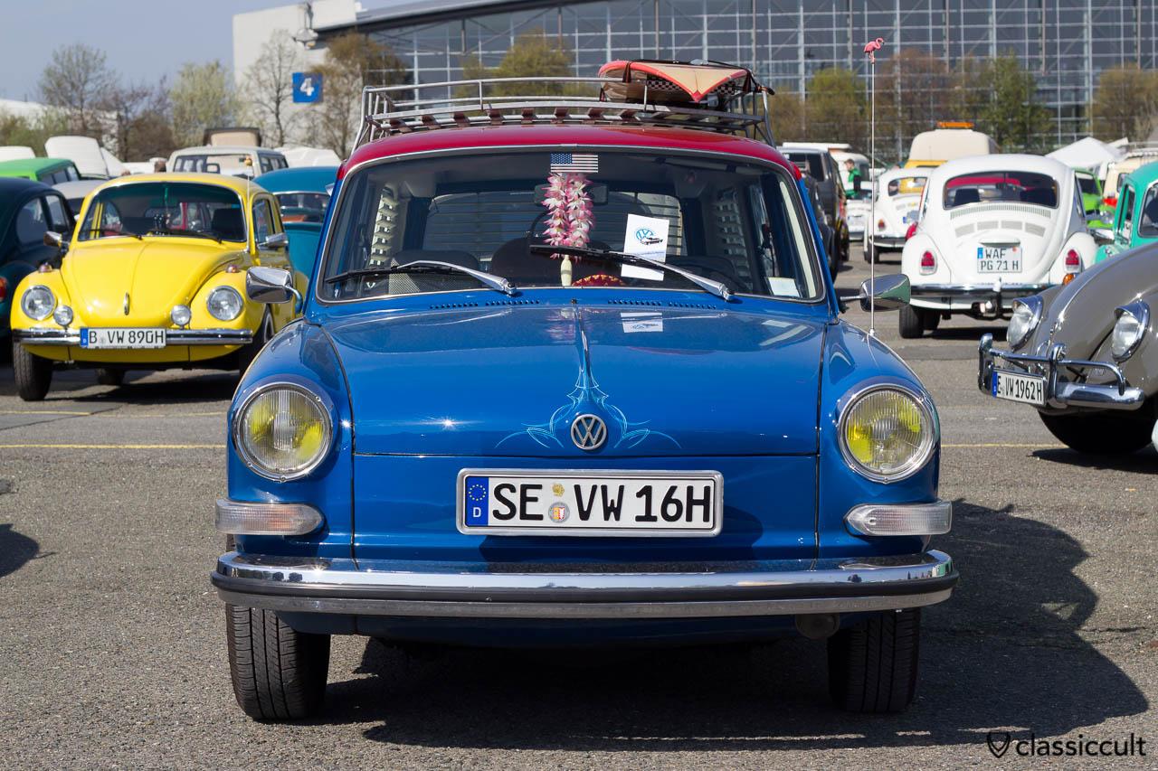 VW Type 3 mit Pinstripe und gelben Scheinwerfern