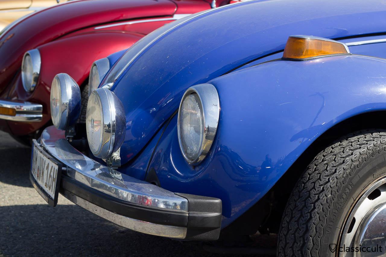 VW Käfer mit Hella Fernscheinwerfer