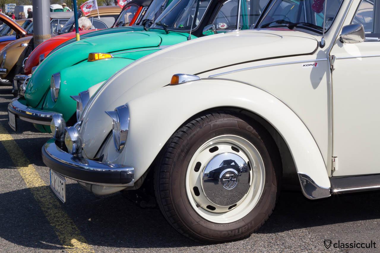 VW Beetle with hooded Hella fog lights