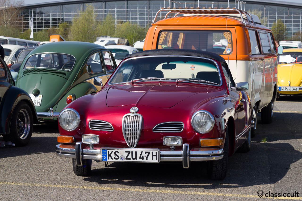 VW Karmann Ghia mit eckigen Bosch Fernscheinwerfer