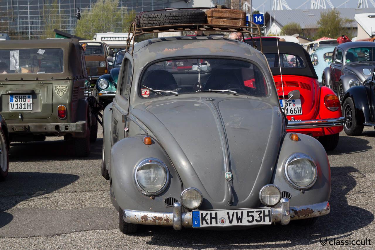 1953 VW Ovali mit Bosch Fernscheinwerfer Knickscheibe