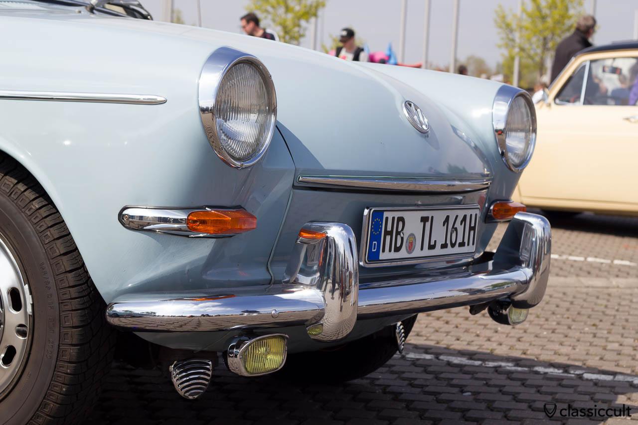 VW Typ 3 mit Hella Nebelscheinwerfer und Bosch Fanfare