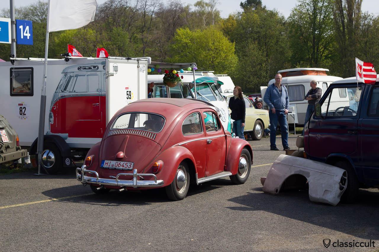 roter Faltdach VW Käfer Export