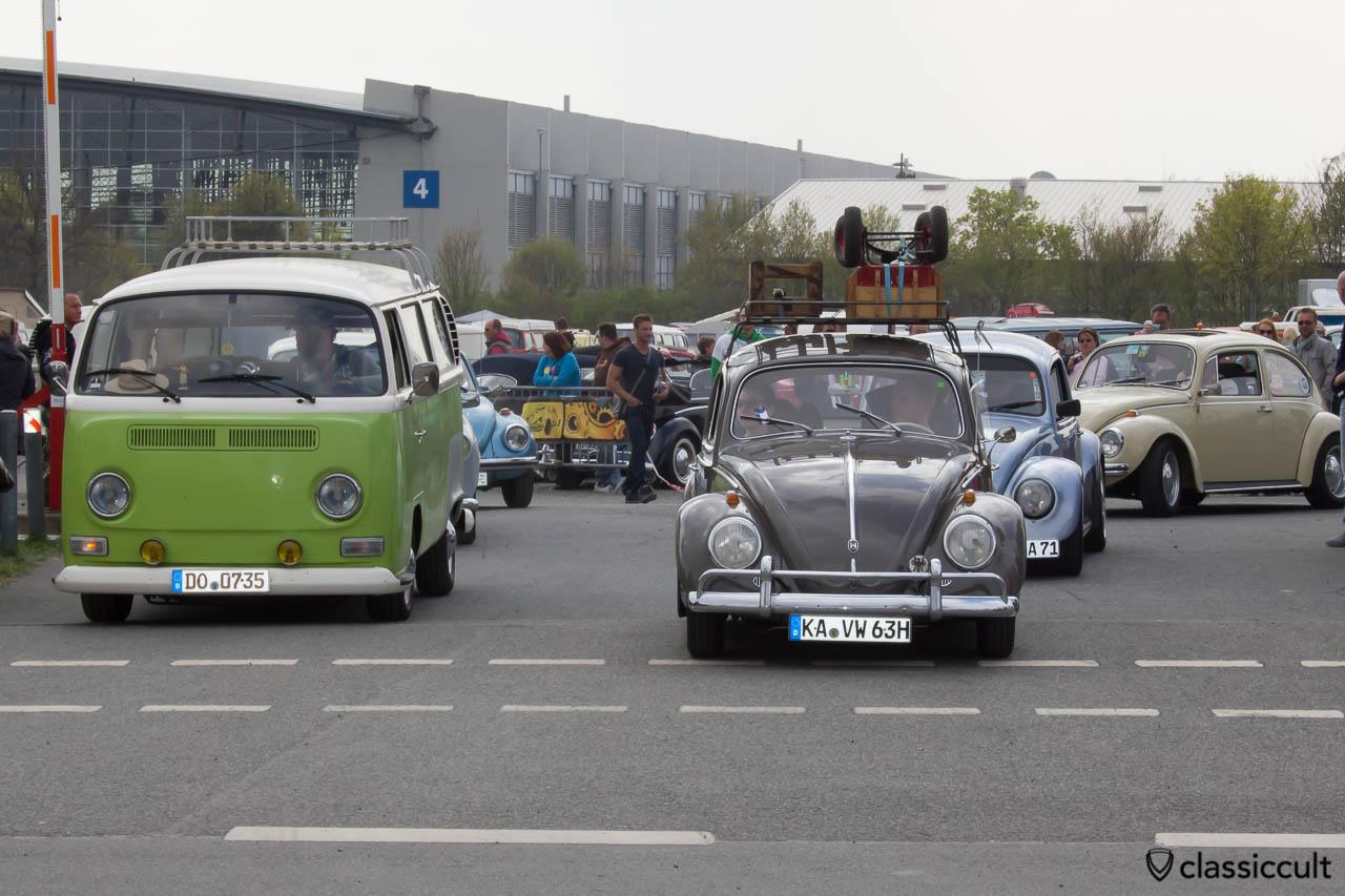 VW Käfer 1963 MaiKäferTreffen 2013 Abreise um 16:18 Uhr