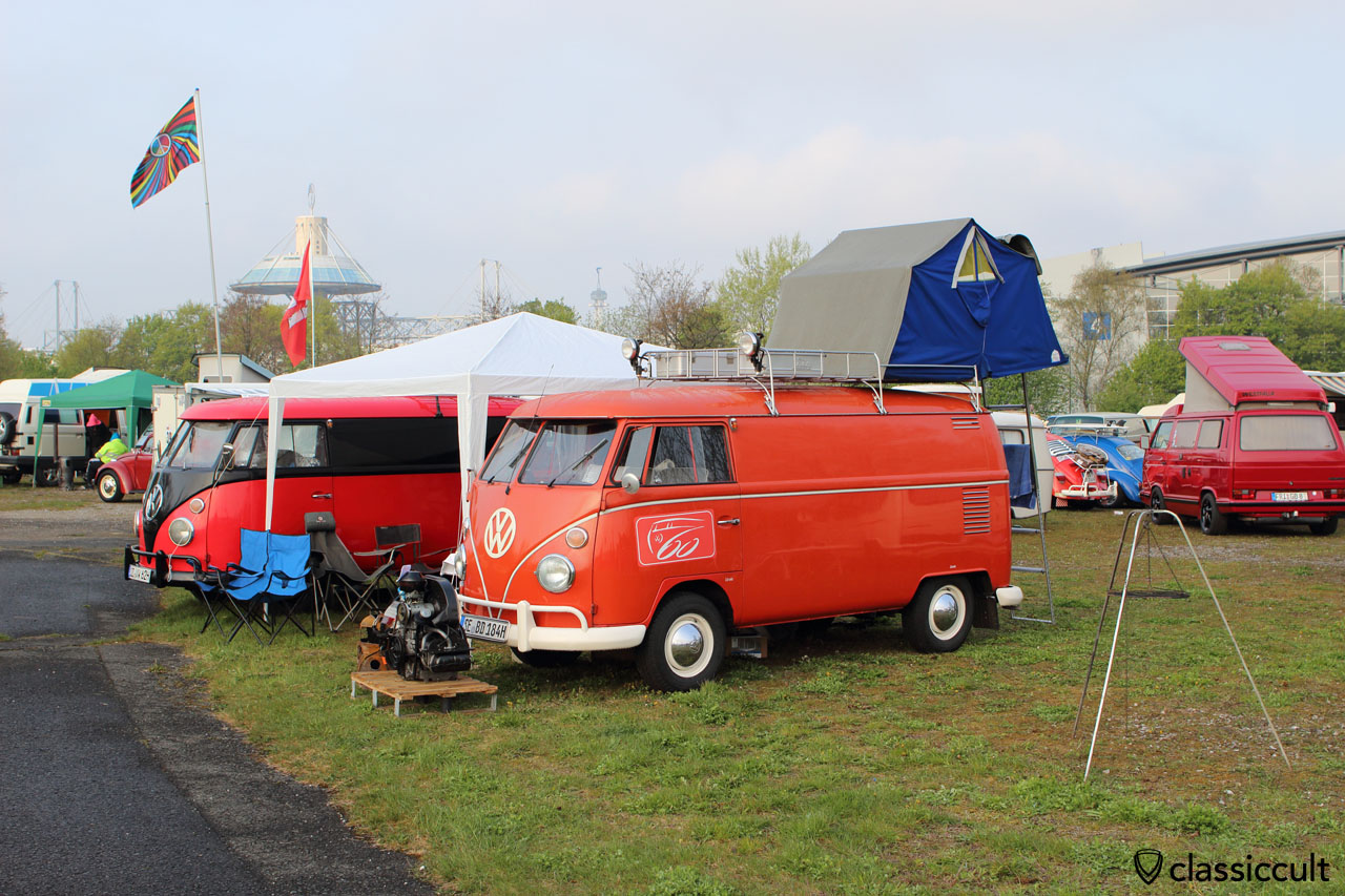 VW T1 with roof tent