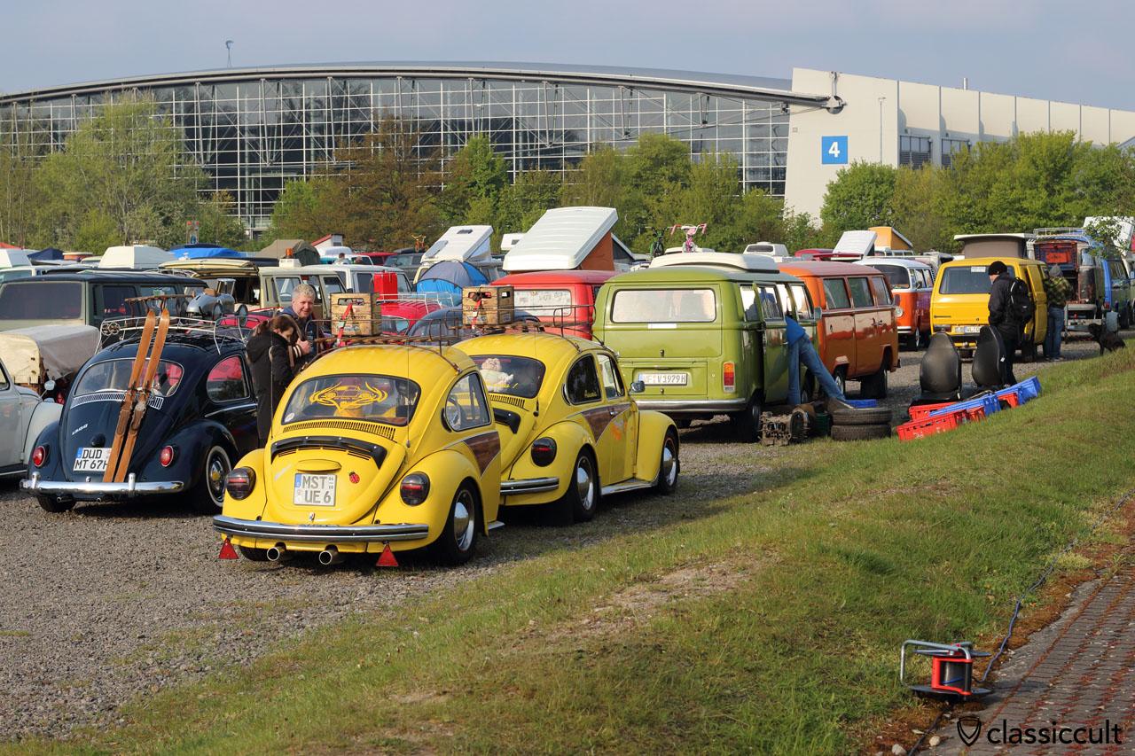 VW Beetle with VW Beetle trailer