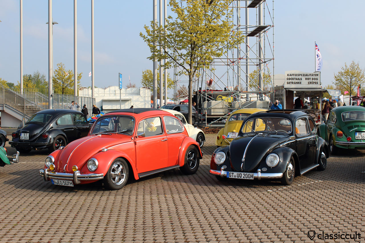 nice 70ies Ragtop Beetle from Nürnberg, lowered with TAS, PUMA, with Fuchs wheels and bumper guards