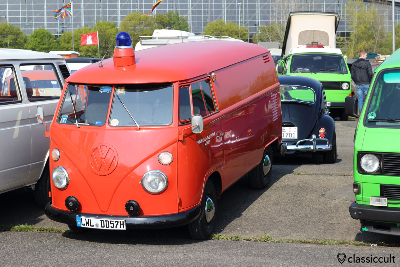 1965 T1 Fire Panel Van, Freiwillige Feuerwehr Aldorf, 42 PS, with 16000 kilometer and all original
