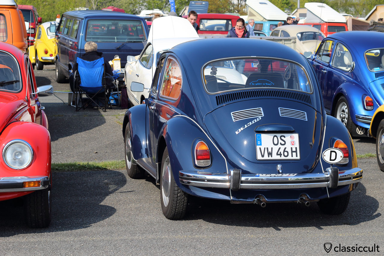 VW 1300 with bumper guards, it would look like the Empi bumper guards if mounted upside down